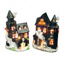 wholesale Candles & Candleholder: haunted castle tealight holder 10,5x13 cm - 2 st