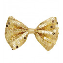 wholesale Toys: gold sequin bow tie - for adults / unisex
