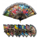 wholesale Houshold & Kitchen:  spanish fan with  lace  2 designs assorted -  for