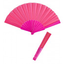 wholesale Toys: pink fabric fan 23 cm - for women