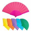 wholesale Houshold & Kitchen:  fabric fan  23 cm  - 6 colors assorted -  for wome