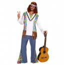 wholesale Toys: woodstock hippie man (shirt withvest, pants, hea