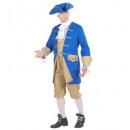 wholesale Costume Fashion:  colonial man   (jacket with vest, jabot, pants, ha