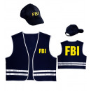 fbi agent  (vest,  cap), Size: (M/L) -  for men
