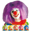 wholesale Toys: clown wig in polybag - 6 colors assorted: green,