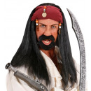 pirate of the caribbean wig with bandana & beads