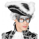 maschera per gli occhi fidelio glitter argento -