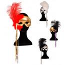 Phantom eyemask avec maxi plumes & déco  4 co