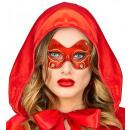 Juwelen metallic fabric eyemask  4 kleuren assort