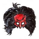 Diavolo maschera con paillettes Trim & maxi p