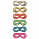 Unisex metallico  eyemask  6 colorsassorted - per