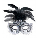 Canal Grande Glitter eyemask withgem & Federn