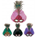 wholesale Toys: elegance feather mask 4 colors assorted, Hat siz