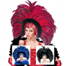wholesale Toys: feathered brazil headdress 3 colors assorted, Ha