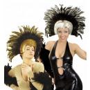Großhandel Spielwaren:  Moulin Rouge  Federkopfschmuck  2 Farben assorte