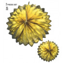 wholesale Toys: set of 2 gold metallic globes 25 cm, Hat size: 0