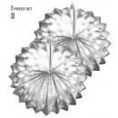 wholesale Toys: set of 2 silver metallic globes 25 cm, Hat size: