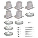 wholesale Toys: holographic diamond las vegas party kit , Hat siz
