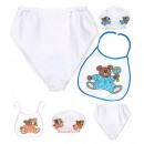 wholesale Toys: baby dress-up set (bonnet, bib, giant diaper) 2