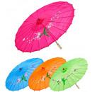Versierde zijde oosterse parasol met houten struc