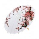 Versierde witte rijstpapier Oosterse parasol met