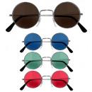 wholesale Toys: lennon glasses 4 colors assorted: 3 brown, 3 blu