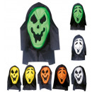 wholesale Toys:  hooded ghost mask  with see-through net eyes  eva