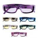 wholesale Toys: metallic glasses with rectangular lenses - 6 col