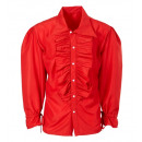 wholesale Toys: red ruffle shirt for medieval, renaissance, colo