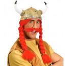 wholesale Toys: gaulois helmet with plaits & moustache latex, Ha