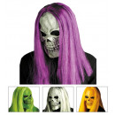 wholesale Toys: skull mask with wig 4 colors assorted, Hat size: