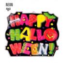 grossiste Fournitures de bureau equipement magasin:  3d neon happy  halloween sign  45x53 cm