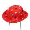 wholesale Toys: velvet red polka dots mini bowler hat , Hat size: