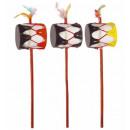 wholesale Music Instruments:  native indian  hand drum  30 cm - 3 colors assorte