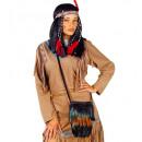 Sac à main indien natif à plumes  - pour les femm