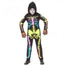 grossiste Jouets: squelette coloré (salopette à capuchon), Taille: