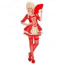 Red barocken Königin (Kleid, Petticoat, Netzs th