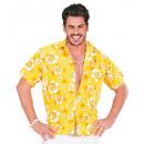 grossiste Jouets: Chemise jaune hawaïen , Taille: (XL) - pour les h