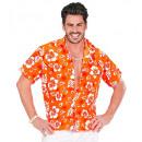 grossiste Jouets: Chemise orange hawaïen , Taille: (XL) - pour les