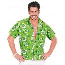 grossiste Jouets: Chemise verte hawaïen , Taille: (M / L) - pour le