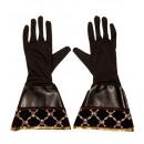 Piraten  Handschuhe   Lederoptik, Größe: ...