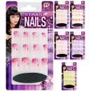 set of 12 strass nails with glue tube and nail f