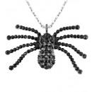 grossiste Jouets: Collier araignée strass noir - pour les femmes