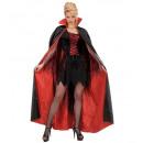ingrosso Gioielli & Orologi:  nero-rosso  foderato raso  mantello  148 cm - ...
