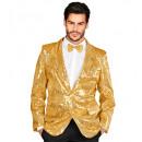 groothandel Woondecoratie: showtime jackets (goud sequin jacket), Maat: (M)