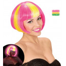 wholesale Toys: neon yellow streaked pink valentina wig in ...