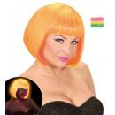 wholesale Toys: mixed neon orange & yellow valentina wig in box,