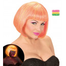 wholesale Toys: mixed neon pink & yellow valentina wig in box, H