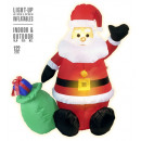 ingrosso Giocattoli: light-up airblown inflatable santa claus 122 cm
