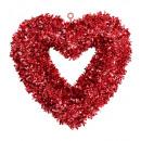 St. Valentijnsdag klatergoudhart 46x44 cm, hoede